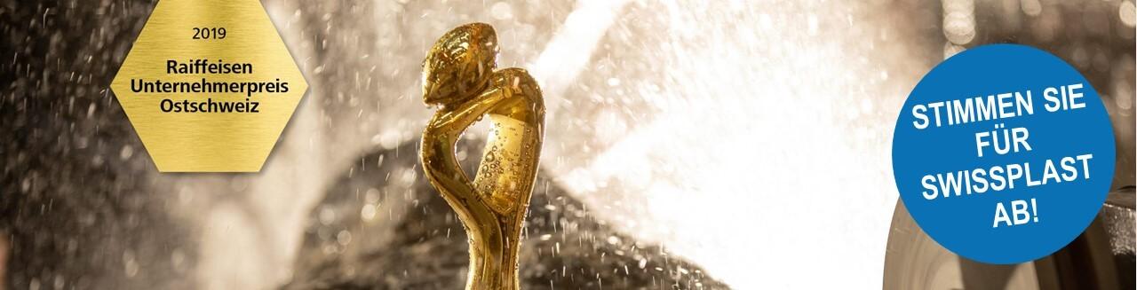 Teilnahme von swissplast an Abstimmung für Raiffeisen Unternehmerpreis 2019