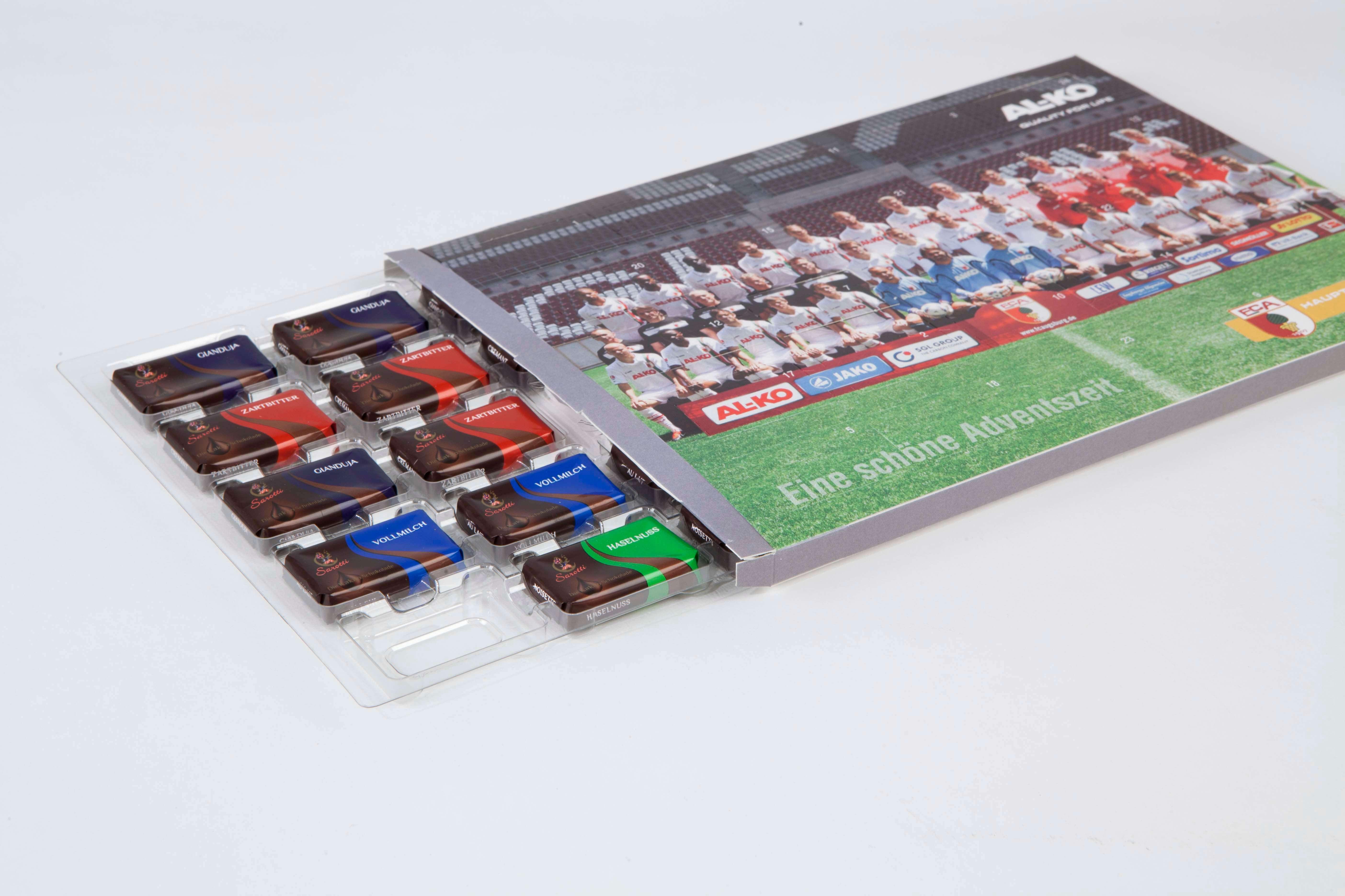 Blister- Klappverpackungen für Schokoladen-Adventskalender