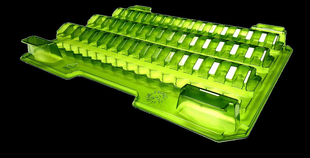 grüne Blisterverpackung