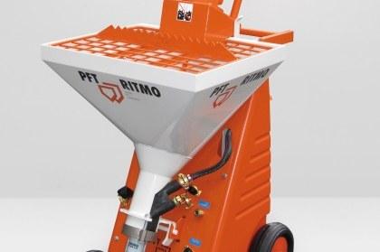 orange-weiße PFT RITMO Baumaschine von swissplast