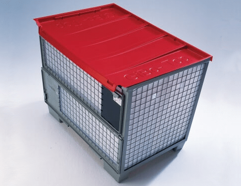 rote Gitterbox-Abdeckung